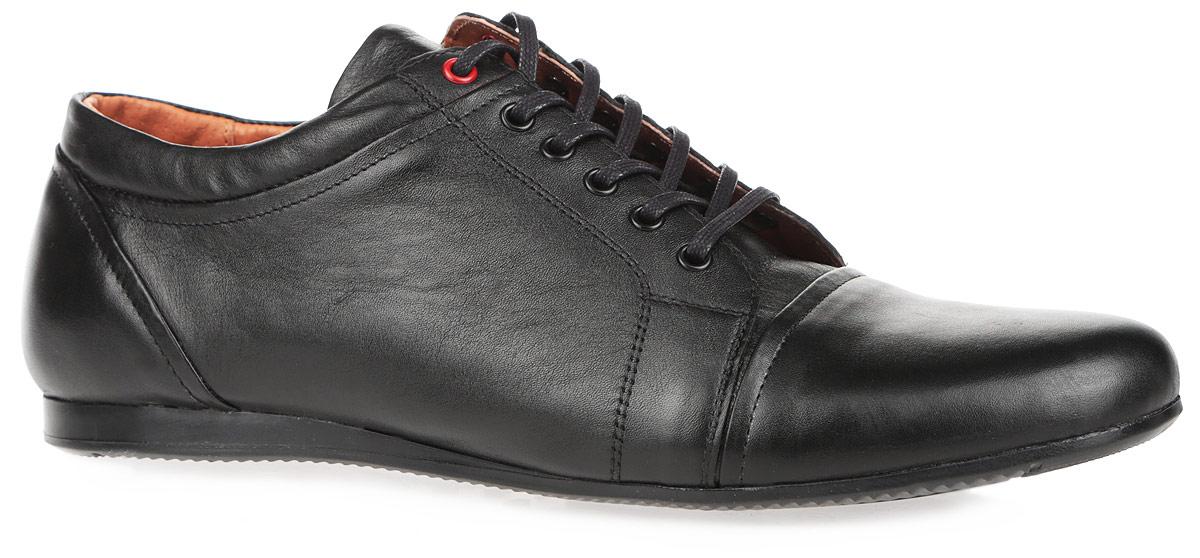 Полуботинки мужские. 152735-1-1101152735-1-1101Модные мужские полуботинки от Milana покорят вас своим удобством. Модель выполнена из натуральной кожи. Подкладка и стелька из натурального меха сохранят ваши ноги в тепле. Шнуровка прочно фиксирует обувь на вашей ноге. Подошва с рифлением гарантирует идеальное сцепление с любыми поверхностями. Стильные полуботинки прекрасно впишутся в ваш гардероб.