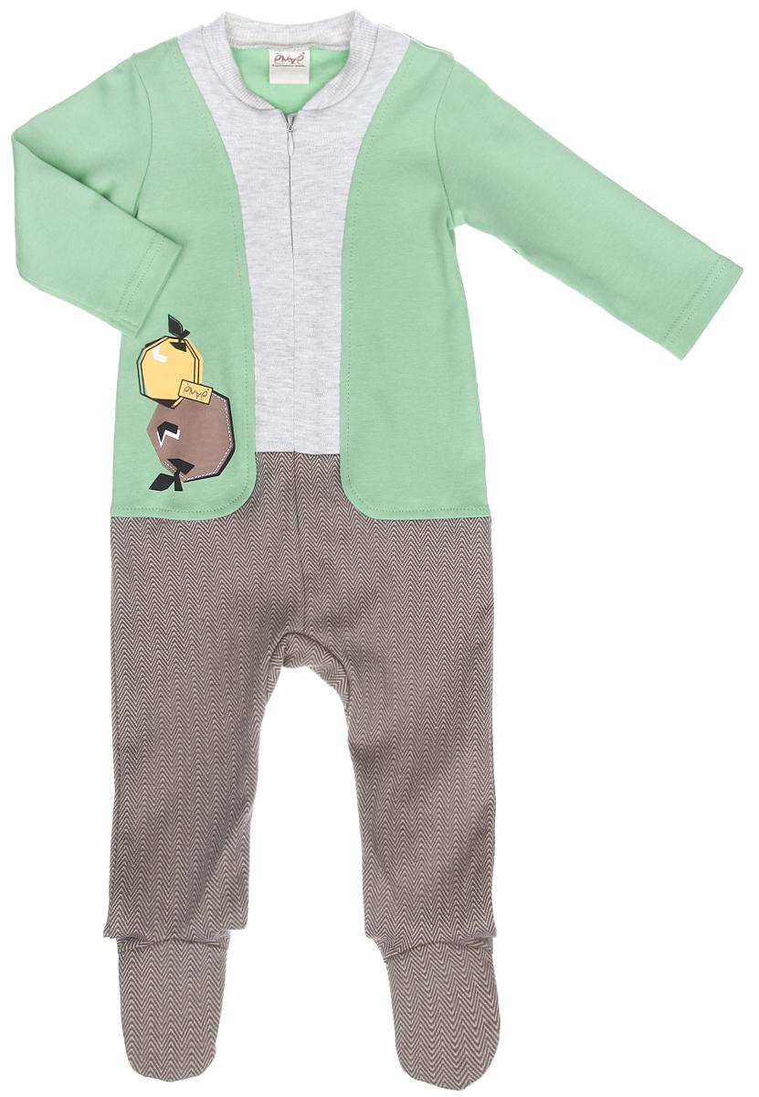 22-247Детский комбинезон для мальчика Ёмаё - очень удобный и практичный вид одежды для малыша. Комбинезон выполнен из натурального хлопка, благодаря чему он очень мягкий и приятный на ощупь, не раздражает нежную кожу ребенка и хорошо вентилируется. Комбинезон с длинными рукавами и закрытыми ножками имеет спереди застежку-молнию, которая помогает легко переодеть ребенка или сменить подгузник. Круглый вырез горловины дополнен широкой трикотажной резинкой. Использование контрастных цветов придает изделию эффект 3 в 1. Модель оформлена термоаппликацией с изображением яблок. Комфортный и уютный комбинезон станет незаменимым дополнением к гардеробу вашего ребенка. Изделие полностью соответствует особенностям жизни младенца в ранний период, не стесняя и не ограничивая его в движениях.