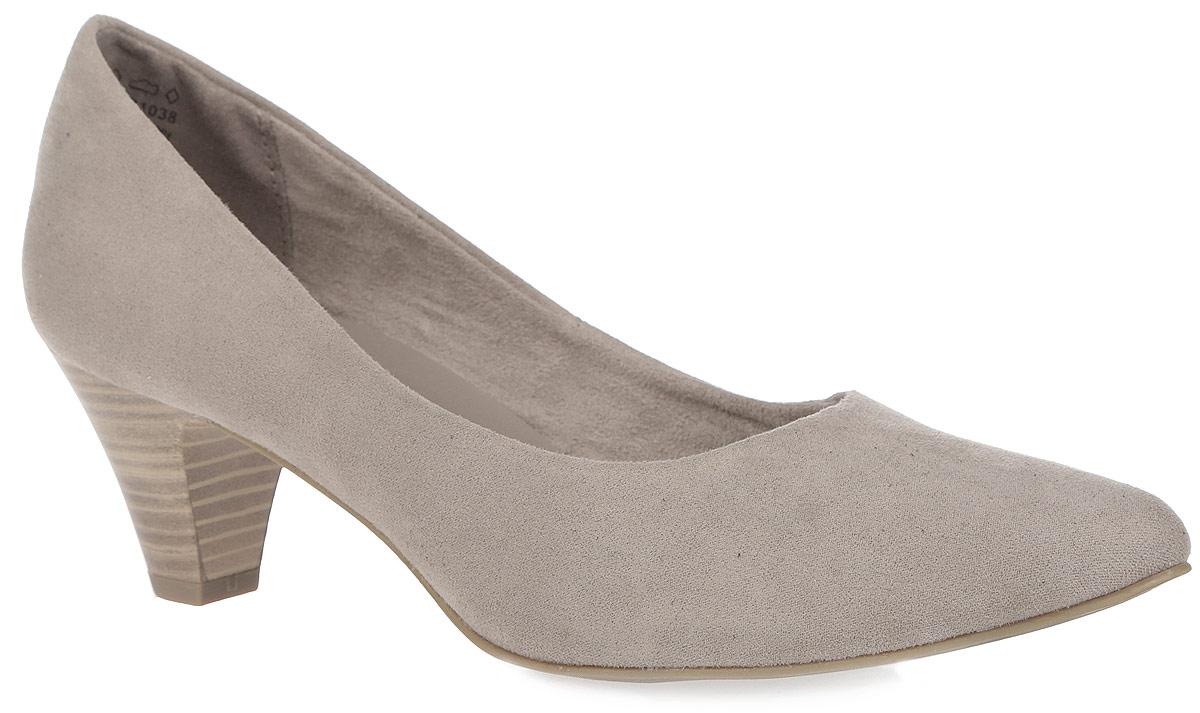 Туфли женские. 2-2-22434-26-3412-2-22434-26-341Классические женские туфли от Marco Tozzi займут достойное место в коллекции вашей обуви. Модель изготовлена из мягкого, приятного на ощупь текстиля. Закругленный носок добавит женственности в ваш образ. Невероятно удобная стелька с памятью, выполненная из искусственной кожи, и подкладка из текстиля обеспечат максимальный комфорт при движении. Умеренной высоты каблук, стилизованный под дерево, устойчив. Подошва с рельефным протектором не скользит. В таких туфлях вашим ногам будет уютно и комфортно! Они прекрасно дополнят ваш повседневный образ.