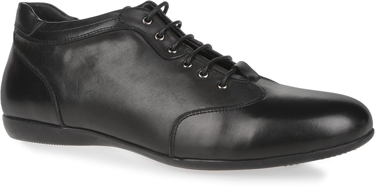 Ботинки мужские. 152805-1-110V152805-1-110VСтильные ботинки Milana - незаменимая вещь в гардеробе каждого мужчины. Модель выполнена из натуральной кожи и оформлена фактурными швами по верху. Подкладка и стелька из мягкого ворсина комфортны при ходьбе. Верх изделия оформлен классической шнуровкой, которая надежно фиксирует модель на ноге и регулирует объем. Отверстия для шнурков с металлическими люверсами. Ботинки застегиваются на застежку-молнию, расположенную с одной из боковых сторон. Гибкая подошва с оригинальным рифленым рисунком обеспечивает идеальное сцепление с разными поверхностями. Ультрамодные ботинки не оставят вас незамеченным!
