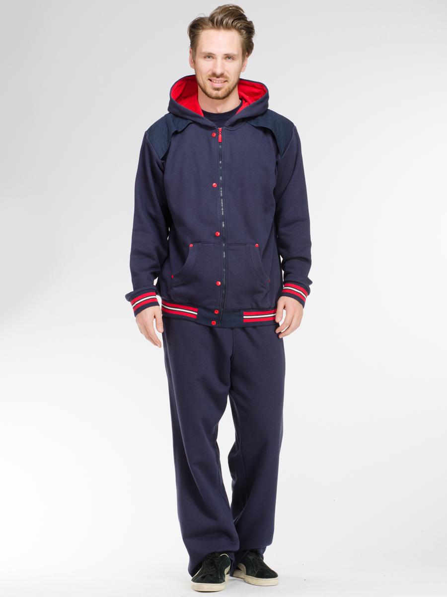 Комплект мужской: толстовка, футболка, брюки. 59965996Комплект мужской одежды Relax Mode включает в себя толстовку, футболку и брюки. Выполненный из эластичного хлопка, комплект мягкий и приятный на ощупь, не сковывает движения и позволяет коже дышать, обеспечивая комфорт. Уютная толстовка с капюшоном и длинными рукавами спереди застегивается на пластиковую застежку-молнию по всей длине. Спереди модель дополнена двумя накладными карманами. Низ и манжеты изделия выполнены из эластичной резинки, что предотвращает деформацию при носке. Футболка с круглым вырезом горловины и короткими рукавами спереди оформлена принтовыми надписями. Брюки с широкой резинке в поясе дополнительно завязываются на текстильный шнурок. По бокам изделие дополнено двумя втачными карманами. Стильный комплект одежды станет отличным дополнением к вашему гардеробу, а также подарит вам удобство и комфорт.