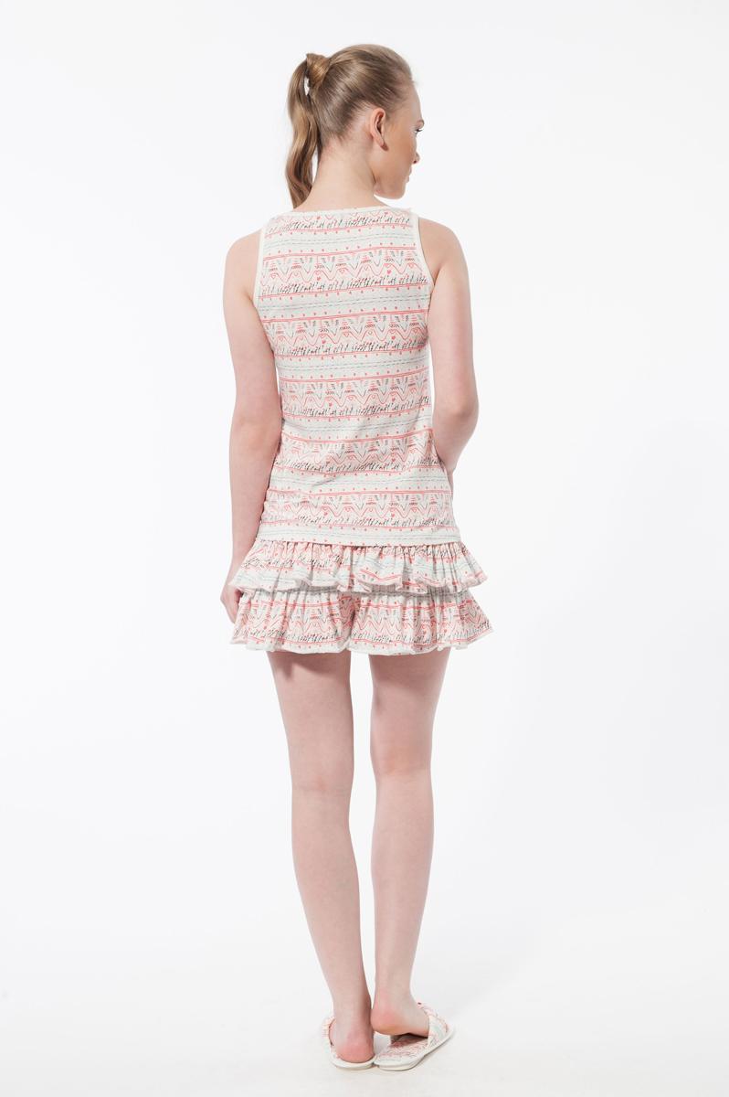 Комплект женский: майка, юбка-шорты. 13352