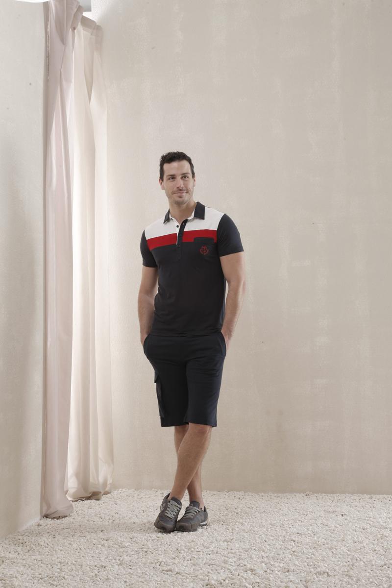 Relax Mode Комплект мужской Holiday: футболка-поло, шорты. 35428