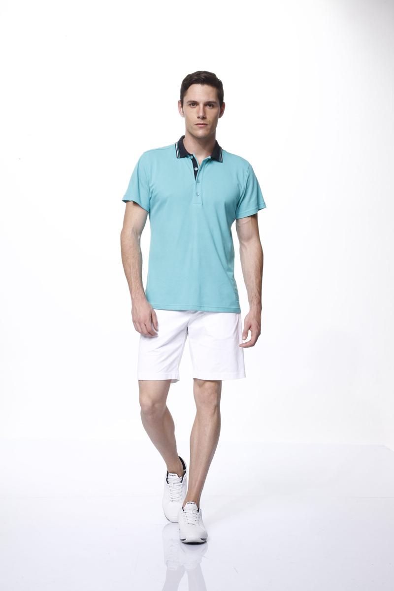Комплект мужской: футболка-поло, шорты. 3546735467Комплект мужской одежды Relax Mode, состоящий из футболки-поло и шорт, станет отличным дополнением к вашему гардеробу. Футболка выполнена из хлопка в сочетании с модалом, шорты изготовлены из эластичного хлопка. Комплект мягкий и приятный на ощупь, не сковывает движения и позволяет коже дышать, обеспечивая комфорт. Футболка с отложным воротником и короткими рукавами застегивается сверху на пуговицы. Воротник дополнен трикотажной резинкой с контрастными полосками. Модель украшена небольшой вышивкой. Шорты с эластичной резинкой на талии застегиваются на металлические пуговицы и имеют ширинку на застежке-молнии, а также шлевки для ремня. Спереди расположены два втачных кармана. Стильный комплект одежды подарит вам удобство и комфорт, подчеркнет вашу индивидуальность.