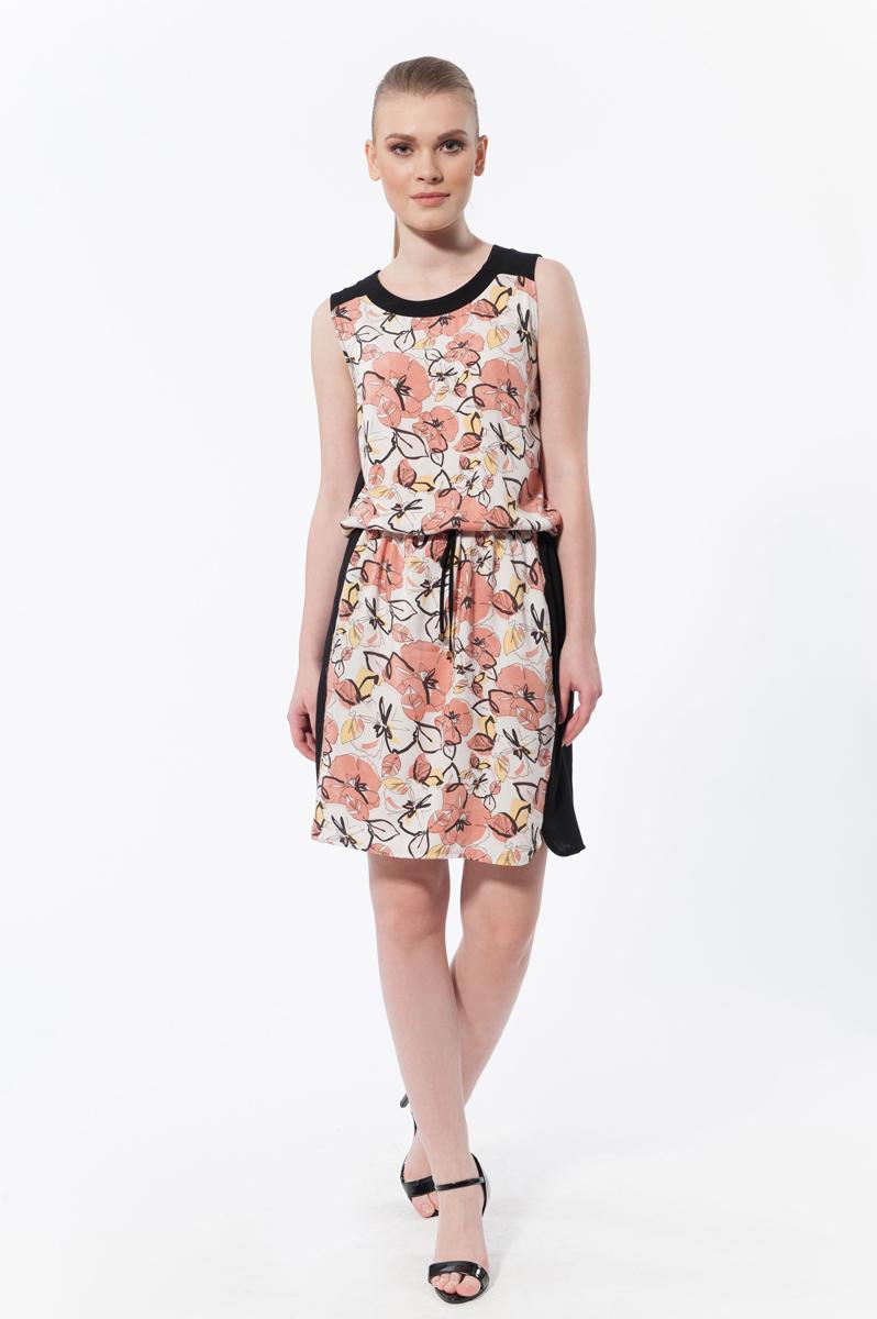 Платье. 4580245802Элегантное платье Relax Mode изготовлено из высококачественного материала. Такое платье обеспечит вам комфорт и удобство при носке. На спинке застегивается на пуговку. Модель свободного кроя с рукавами-кимоно и с круглым вырезом горловины дополнено узким поясом, двумя врезными карманами. Это модное и удобное платье станет превосходным дополнением к вашему гардеробу, оно подарит вам удобство и поможет вам подчеркнуть свой вкус и неповторимый стиль.