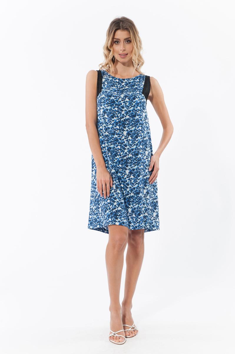 Платье. 4580745807Элегантное платье Relax Mode изготовлено из высококачественного материала. Такое платье обеспечит вам комфорт и удобство при носке. Модель свободного, прямого кроя без рукавов и с круглым вырезом горловины понравится каждой любительнице классического стиля. Зона рукавов декорирована ажурной тканью. Это модное и удобное платье станет превосходным дополнением к вашему гардеробу, оно подарит вам удобство и поможет вам подчеркнуть свой вкус и неповторимый стиль.