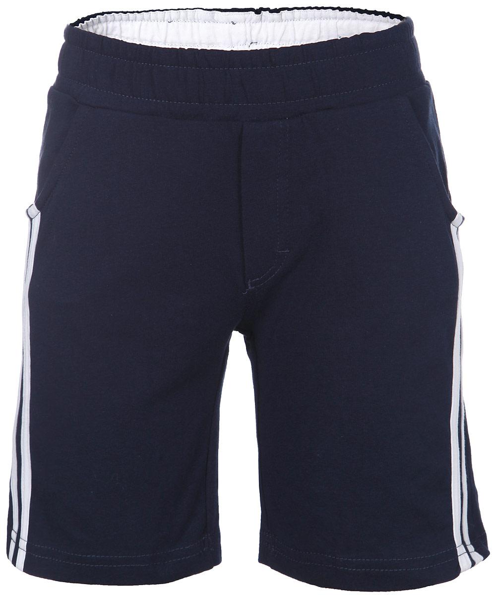 116BBBB5404Стильные шорты для мальчика Button Blue идеально подойдут для активного отдыха и прогулок. Изготовленные из эластичного хлопка, они необычайно мягкие и приятные на ощупь, не сковывают движения и позволяют коже дышать, не раздражают даже самую нежную и чувствительную кожу ребенка, обеспечивая наибольший комфорт. Удобные шортики, оформленные контрастными полосками, имеют широкую резинку на поясе. С внутренней стороны пояс регулируется при помощи шнурка-кулиски. Шортики дополнены двумя втачными карманами спереди и оформлены имитацией ширинки. Современный дизайн и модная расцветка делают эти шорты модным и стильным предметом детского гардероба. В них ваш малыш всегда будет в центре внимания!