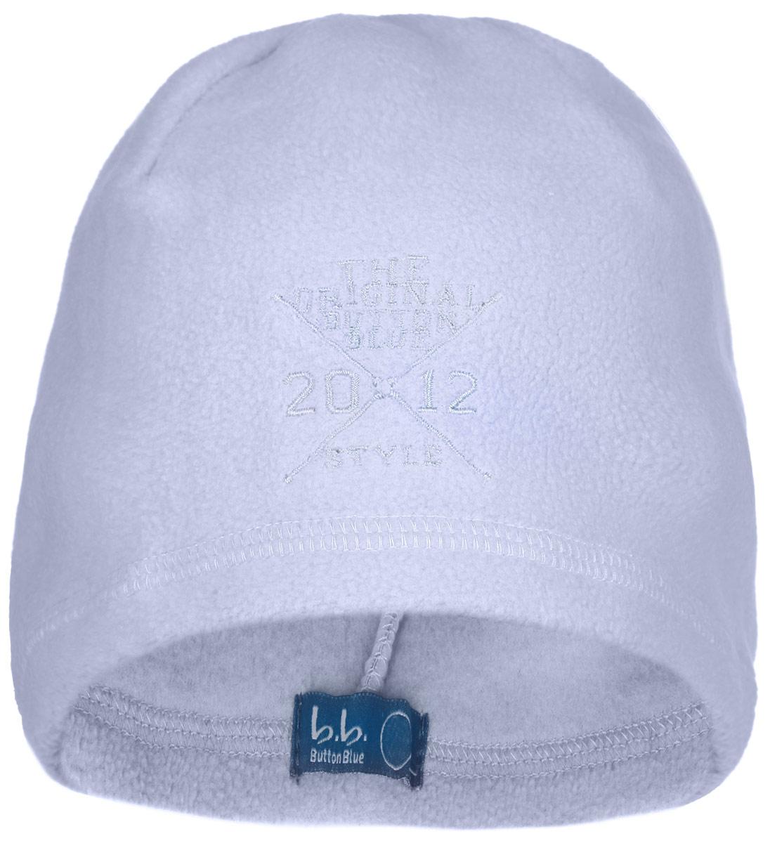 Шапка для мальчика. 116BBBB7308116BBBB7308Стильная флисовая шапка для мальчика Button Blue идеально подойдет для прогулок в прохладное время года. Изготовленная из высококачественного полиэстера, она необычайно мягкая и легкая, не раздражает нежную кожу ребенка и хорошо вентилируется. Шапка оформлена небольшой вышивкой с надписью The Original Button Blue Style 2012. Такая шапка станет модным и стильным предметом детского гардероба. Она улучшит настроение даже в хмурые прохладные дни! Уважаемые клиенты! Размер, доступный для заказа, является обхватом головы ребенка.