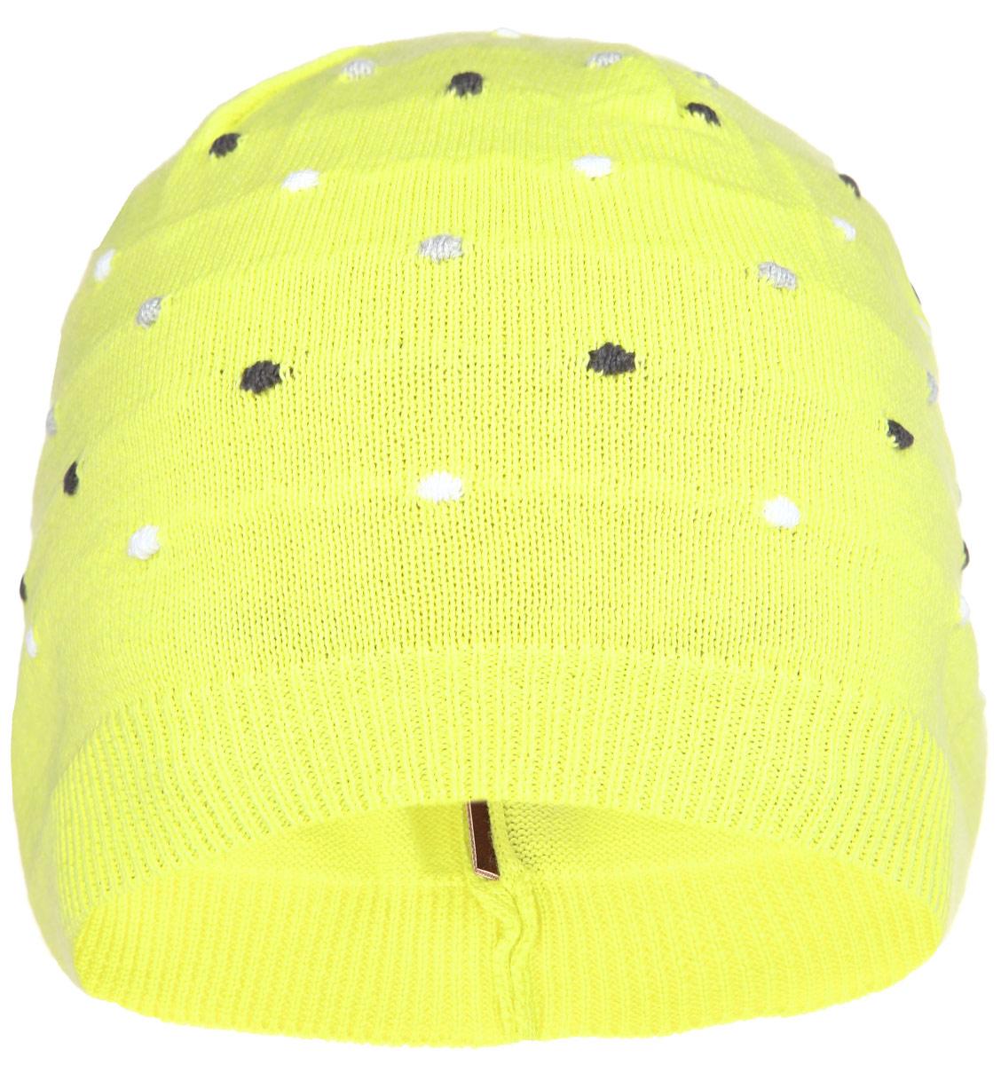 528461_2310Комфортная детская шапка Reima Bilberry идеально подойдет для прогулок в прохладное время года и защитит вашего ребенка от ветра. Шапочка изготовлена из мягкой хлопковой пряжи. Модель оформлена контрастными вязаными горошинами. Понизу изделие связано мелкой резинкой. В такой шапке ваш ребенок будет чувствовать себя уютно и комфортно и всегда будет в центре внимания! Уважаемые клиенты! Размер, доступный для заказа, является обхватом головы ребенка.