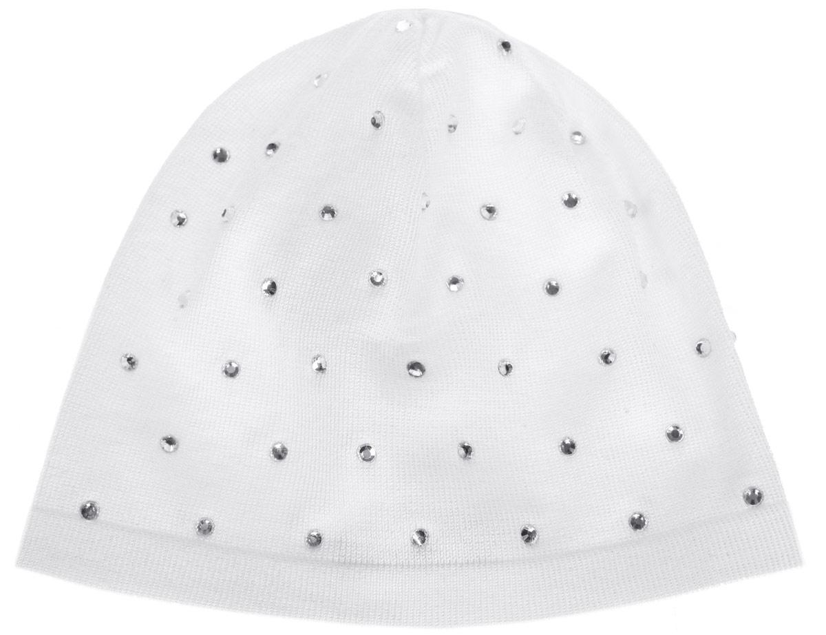 Шапка для девочки. 116BBGB7304116BBGB7304Стильная легкая шапка для девочки Button Blue идеально подойдет для прогулок и активных игр в прохладное время года. Шапка выполнена из вискозы с добавлением нейлона, она обладает хорошими дышащими свойствами и отлично удерживает тепло. Изделие тянется и удобно сидит. Такая шапочка великолепно дополнит любой наряд. Шапка украшена множеством сверкающих страз. Удобная шапка станет модным и стильным дополнением гардероба вашей маленькой принцессы, надежно защитит ее от холода и ветра, и поднимет ей настроение даже в пасмурные дни! Уважаемые клиенты! Размер, доступный для заказа, является обхватом головы.