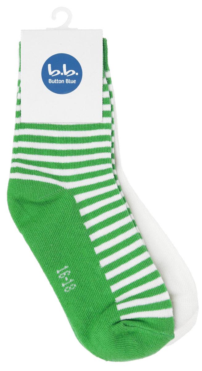 Носки для девочки, 2 пары. 116BBGB8502116BBGB8502Стильные носки для девочки Button Blue, изготовленные из высококачественного эластичного хлопка с добавлением полиамида, идеально подойдут вашей малышке. Такие носки превосходно тянутся, а полиамид в составе обеспечивает дополнительную прочность и износостойкость. Эластичная резинка плотно облегает ножку ребенка, не сдавливая ее, благодаря чему маленькой принцессе будет комфортно и удобно. Усиленная пятка и мысок обеспечивают надежность и долговечность. В комплект входят две пары носочков.