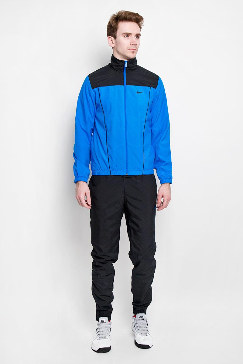 Спортивный костюм мужской Pacific Woven. 679705-010679705-010Мужской спортивный костюм Nike Pacific Woven - это современный вариант классической куртки и брюк, изготовленных из функциональной ткани для динамичного комфорта и неизменного стиля. Изготовленный из полиэстера, он легкий, приятный на ощупь, не сковывает движения и хорошо вентилируется. Подкладка изделия выполнена из мягкого сетчатого материала. Куртка с небольшим воротником-стойкой и длинными рукавами застегивается на пластиковую застежку-молнию. По бокам куртки расположены два прорезных кармана. Манжеты и низ изделия выполнены с эластичными вставками. Брюки на поясе имеют широкую эластичную резинку, регулируемую шнурком. Молнии в области щиколотки облегчают переодевание. Спереди предусмотрены два прорезных кармана с косыми срезами. Такой костюм идеально подойдет для активного отдыха и занятий спортом, в нем вам будет удобно и комфортно!