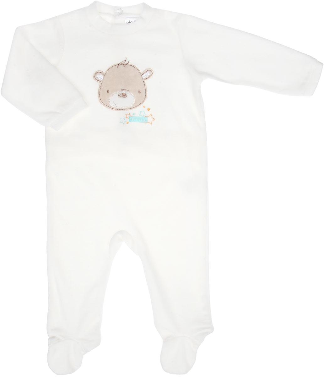 167855Комбинезон для мальчика PlayToday Baby идеально подойдет вашему малышу. Изготовленный из нежнейшего велюра, он необычайно мягкий и легкий, не раздражает нежную кожу ребенка и хорошо вентилируется, а эластичные швы приятны телу малыша и не препятствуют его движениям. Удобные застежки-кнопки спереди и на талии сзади помогают легко переодеть младенца или сменить подгузник. Комбинезон с закрытыми ножками и длинными рукавами однотонного цвета оформлен спереди нашивкой с изображением очаровательного медвежонка. Такой комбинезон полностью соответствуют особенностям жизни малыша в ранний период, не стесняя и не ограничивая его в движениях!