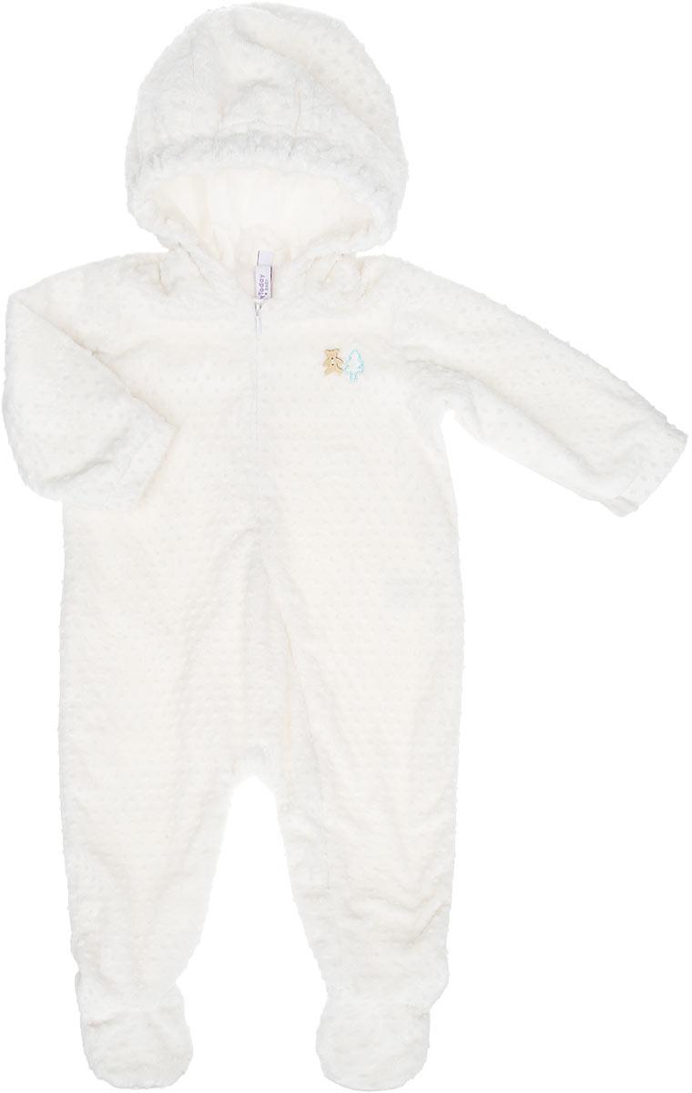 Комбинезон домашний167851Комбинезон для мальчика PlayToday Baby идеально подойдет вашему малышу. Изготовленный из 100% полиэстера с подкладкой из нежного хлопка, он необычайно мягкий и легкий, не раздражает нежную кожу ребенка и хорошо вентилируется, а эластичные швы приятны телу малыша и не препятствуют его движениям. Удобная застежка-молния спереди поможет легко переодеть младенца. Комбинезон с капюшоном, закрытыми ножками и длинными рукавами однотонного цвета оформлен небольшой деревянной пуговицей в виде медвежонка спереди. Рукава комбинезона дополнены манжетами на кнопках. Такой комбинезон полностью соответствует особенностям жизни малыша в ранний период, не стесняя и не ограничивая его в движениях, и прекрасно подойдет для активных игр и сна.