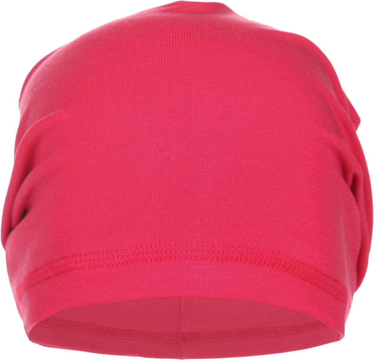Шапка для девочки. 162036162036Яркая шапка для девочки PlayToday станет стильным дополнением к детскому гардеробу. Удлиненная модель шапки выполнена из мягкого двуслойного трикотажа, очень приятная на ощупь, идеально прилегает к голове. Современный дизайн и расцветка делают эту шапку модным детским аксессуаром. В ней ваш ребенок будет чувствовать себя уютно, комфортно и всегда будет в центре внимания! Уважаемые клиенты! Размер, доступный для заказа, является обхватом головы.