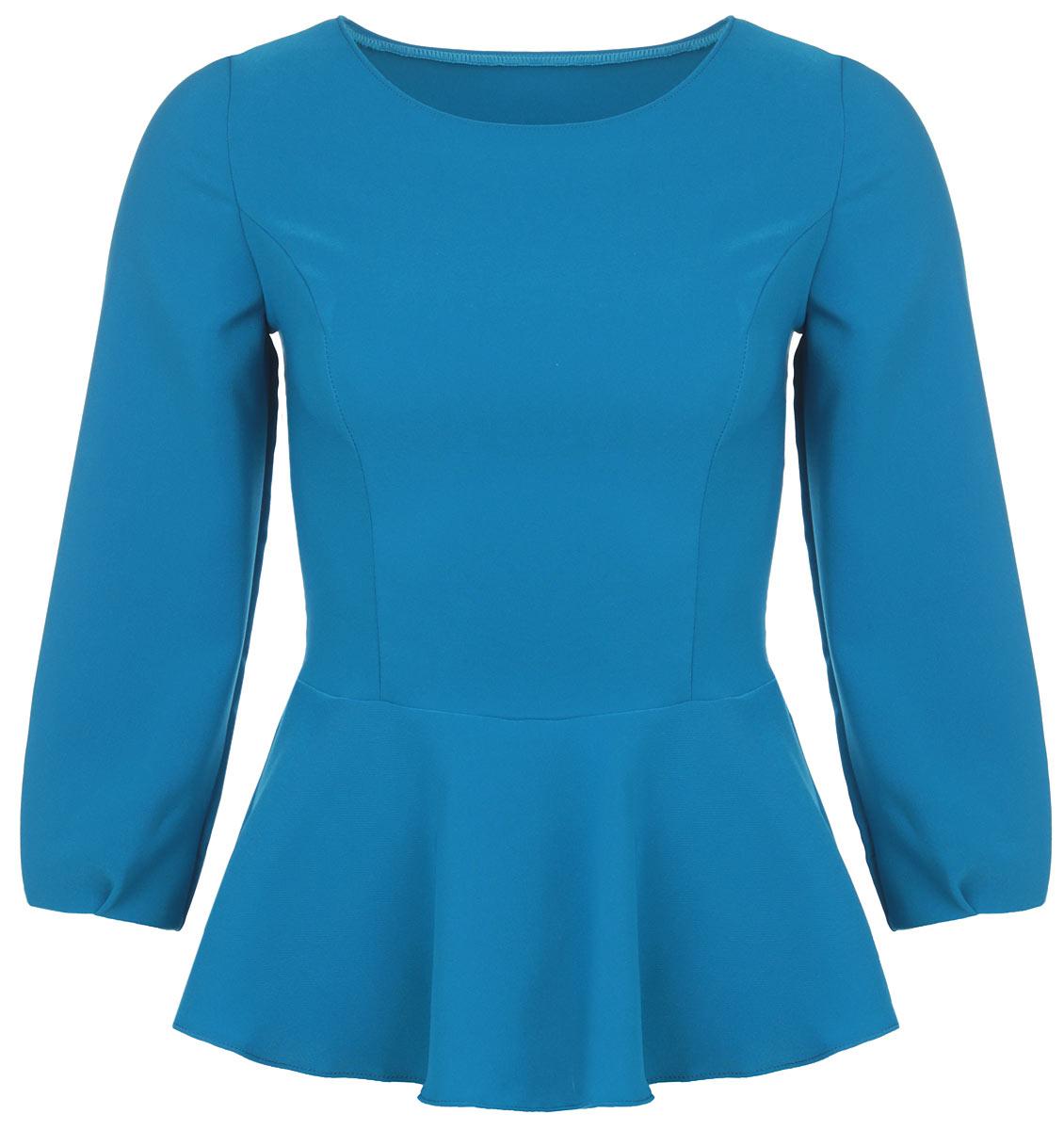 Блузка1830-653Изящная женская блузка Milana Style, выполненная из сочетания синтетического материала ПАН с добавлением вискозы и эластана, подчеркнет ваш уникальный стиль и поможет создать оригинальный женственный образ. Материал очень легкий, мягкий и приятный на ощупь, не сковывает движения и хорошо вентилируется. Блузка с длинными рукавами и круглым воротником оформлена баской и вытачками на лицевой стороне. Рукава присборены к линии кисти. Модная блузка займет достойное место в вашем гардеробе.