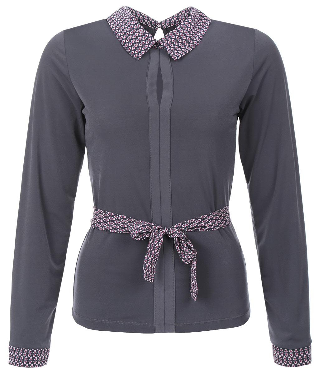 1850-694Очаровательная женская блузка Milana Style, выполненная из синтетического материала ПАН с добавлением эластана, подчеркнет ваш уникальный стиль и поможет создать оригинальный женственный образ. Материал очень легкий, мягкий и приятный на ощупь, не сковывает движения и хорошо вентилируется. Блузка с длинными рукавами и отложным воротником застегивается на спинке на одну пуговицу, образуя при этом вырез капельку. Лицевая сторона блузки оформлена декоративными сшивными планками с разрезом на груди, дополнена блузка текстильным поясом. Такая блузка будет дарить вам комфорт в течение всего дня и послужит замечательным дополнением к вашему гардеробу.