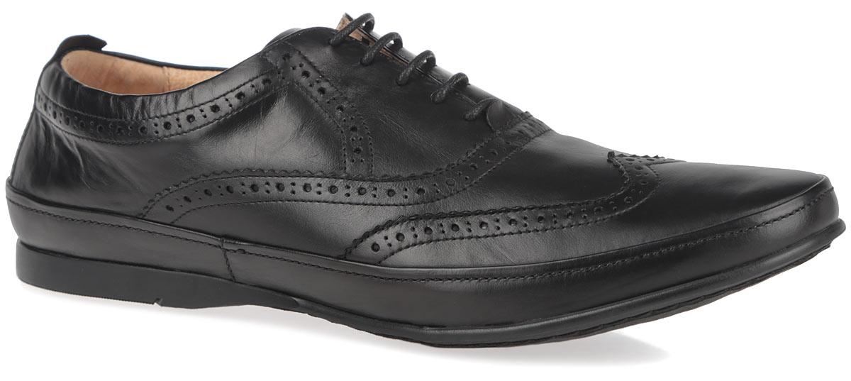 Полуботинки мужские. M23386M23386Стильные мужские полуботинки от Vitacci придутся вам по душе. Модель изготовлена из натуральной кожи и оформлена по верху декоративной перфорацией. Подъем дополнен шнуровкой, которая надежно зафиксирует обувь на вашей ноге. Подкладка из натуральной кожи обеспечивает дополнительный комфорт и предотвращает натирание. Стелька из ЭВА материала с верхним покрытием из натуральной кожи позволит ногам дышать. Эластичная подошва выполнена из термополиуретана. Стильные полуботинки - необходимая вещь в гардеробе каждого мужчины.