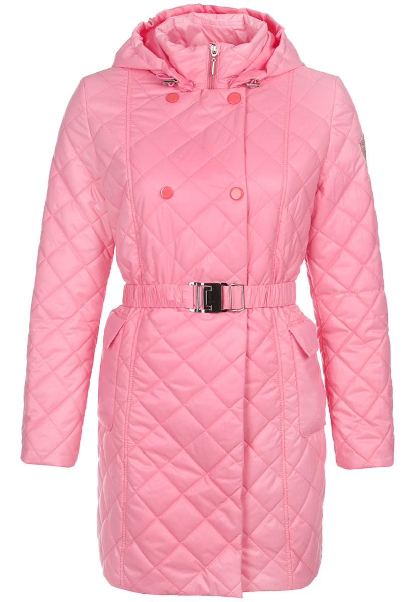 Пальто для девочки. 63574_BOG63574_BOG_вариант 2Пальто для девочки Boom! станет ярким и стильным дополнением к детскому гардеробу. Изделие изготовлено из водонепроницаемой и ветрозащитной ткани. Материал приятный на ощупь, позволяет коже дышать, легко стирается, быстро сушится. Подкладка выполнена из полиэстера и вискозы. В качестве утеплителя используется Flexy Fiber, который максимально сохраняет тепло. Модель с капюшоном и воротником-стойкой застегивается на пластиковую застежку-молнию с защитой подбородка и дополнительно имеет внешнюю ветрозащитную планку на кнопках. Съемный капюшон дополнен по краю скрытой резинкой со стопперами. На талии пальто имеет шлевки для ремня с эластичным пояском на металлической застежке, благодаря которому оно плотно прилегает к телу. Спереди расположены два накладных кармана с клапанами. Длину рукава можно увеличить на один размер, распустив специальные швы на подкладке. Благодаря этой функции изделие растет вместе с ребенком. Модель оформлена нашивкой на рукаве, а также дополнена...