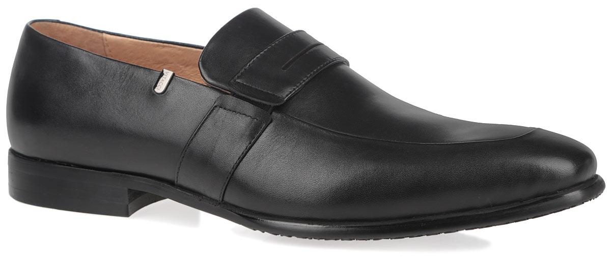 Туфли мужские. M23330M23330Изысканные мужские туфли от Vitacci отлично дополнят ваш деловой образ. Модель выполнена из натуральной высококачественной кожи и оформлена декоративным ремешком с эластичными вставками. Стелька и подкладка из натуральной кожи комфортны при движении. Низкий каблук и подошва с рифлением гарантируют отличное сцепление с любыми поверхностями. Стильные туфли займут достойное место среди вашей коллекции обуви.
