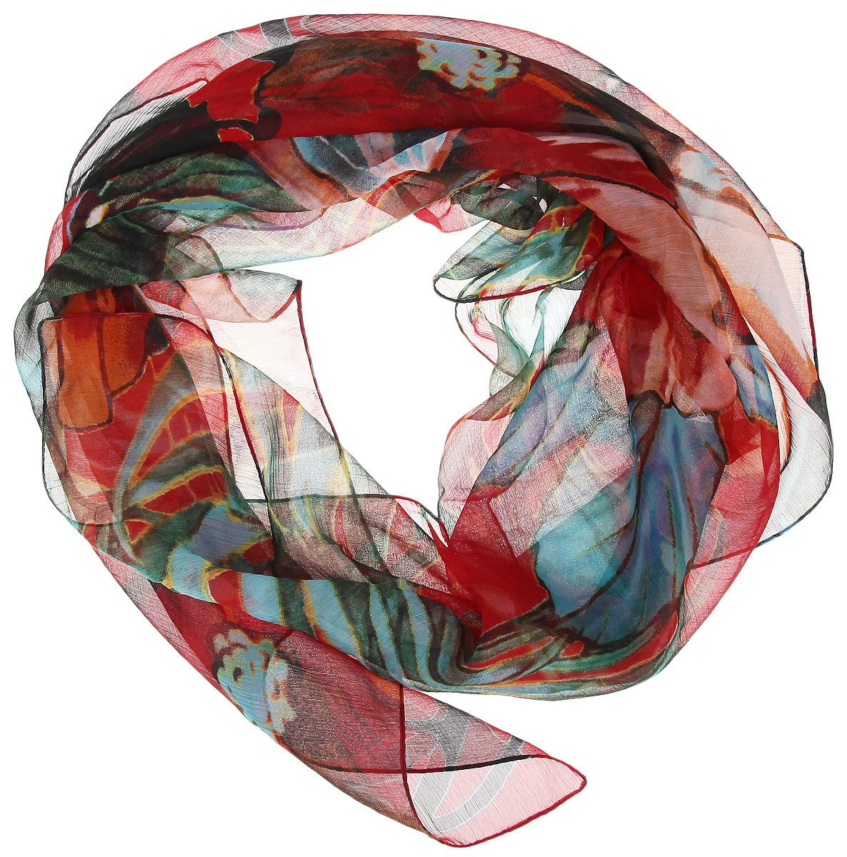 524040нСтильный женский платок Ethnica станет великолепным завершением любого наряда. Легкий платок изготовлен из 100% вискозы. Он оформлен оригинальным принтом с изображением крупных цветов. Классическая квадратная форма позволяет носить платок на шее, украшать им прическу или декорировать сумочку. Мягкий и шелковистый платок поможет вам создать изысканный женственный образ, а также согреет в непогоду. Такой платок превосходно дополнит любой наряд и подчеркнет ваш неповторимый вкус и элегантность.