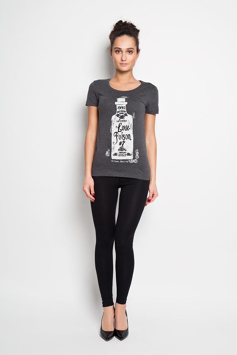 ФутболкаTs-111/749-6102Отличная женская футболка Sela, выполненная из 100 % хлопка, приятная на ощупь не сковывает движения и позволяет коже дышать. Модель с круглым вырезом горловины и короткими рукавами спереди оформлена потрясающим принтом. Эта футболка станет отличным дополнением к вашему гардеробу.