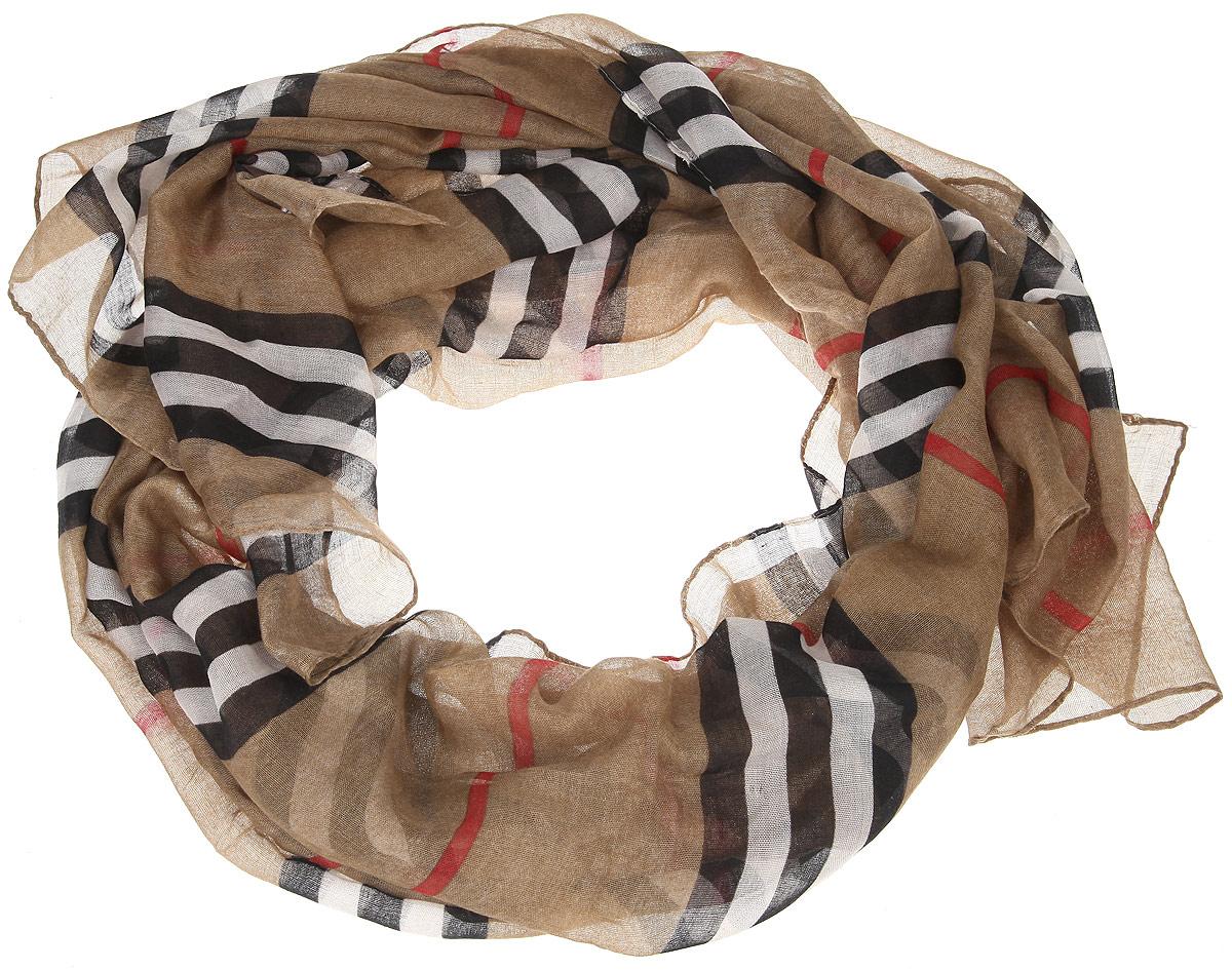 Шарф женский. B16-11421B16-11421Модный женский шарф Finn Flare подарит вам уют и станет стильным аксессуаром, который призван подчеркнуть вашу индивидуальность и женственность. Тонкий шарф выполнен из высококачественной вискозы, он невероятно мягкий и приятный на ощупь. Шарф оформлен актуальным принтом в полоску. Этот модный аксессуар гармонично дополнит образ современной женщины, следящей за своим имиджем и стремящейся всегда оставаться стильной и элегантной. Такой шарф украсит любой наряд и согреет вас в непогоду, с ним вы всегда будете выглядеть изысканно и оригинально.