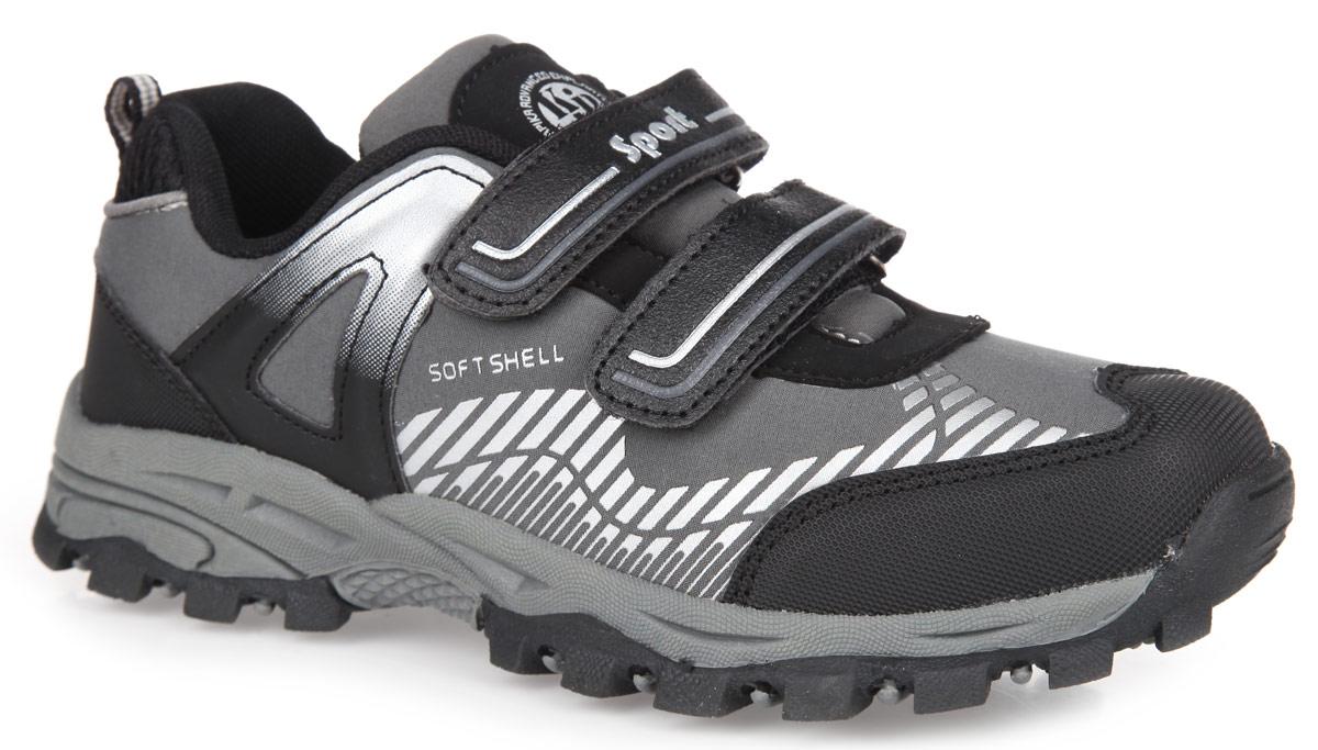 Кроссовки для мальчика. 74163-174163-1Модные кроссовки от Kapika очаруют вашего мальчика с первого взгляда! Модель изготовлена из текстиля со вставками из искусственной кожи и оформлена на язычке фирменной нашивкой. Два ремешка с застежками-липучками закрепят обувь на ноге. Стелька из EVA с текстильной поверхностью эффективно поглощает запахи и влагу, снижает утомляемость ног при длительных физических нагрузках, обеспечивает отличную амортизацию. Супинатор на стельке предотвращает развитие плоскостопия. Перфорация на стельке позволяет ногам дышать. Текстильный ярлычок на заднике обеспечивает удобное обувание модели. Протектор подошвы гарантирует отличное сцепление с любыми поверхностями. Стильные кроссовки займут достойное место в гардеробе вашего ребенка.