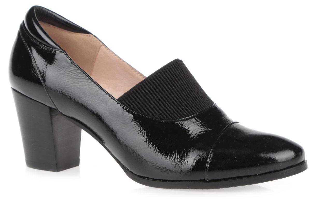 Туфли женские. 50002-0250002-02Женские туфли на каблуке от Provocante прекрасно подчеркнут ваш стиль. Верх модели выполнен из лакированной кожи. Подкладка и стелька из натуральной кожи гарантируют комфорт и удобство при ходьбе. Верхняя часть изделия дополнена эластичной резинкой, которая надежно зафиксирует обувь на ноге. Высокий каблук устойчив. Подошва с рифленым протектором обеспечивает идеальное сцепление с любой поверхностью. Изысканные туфли добавят шика в модный образ и подчеркнут ваш безупречный вкус.