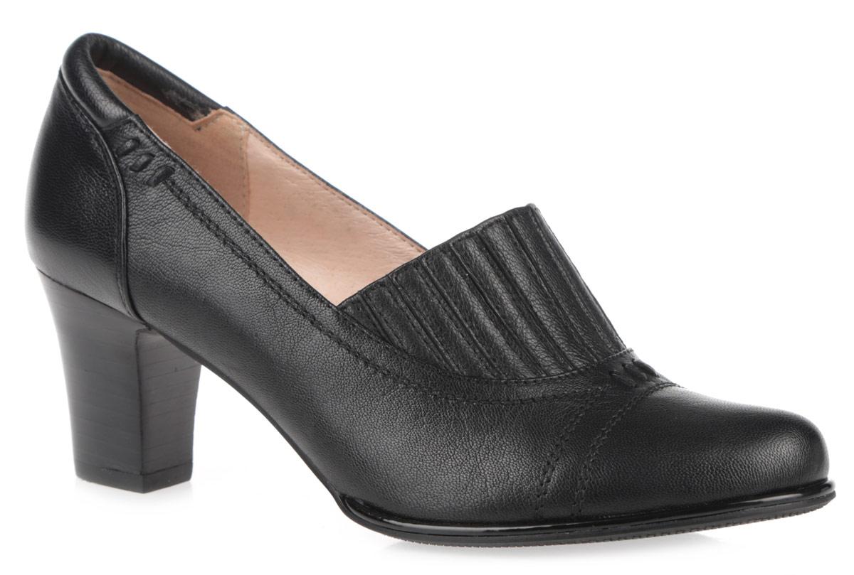 50012-00Женские туфли на каблуке от Provocante прекрасно подчеркнут ваш стиль. Верх модели и внутренняя часть выполнены из натуральной кожи. Стелька из натуральной кожи гарантирует комфорт и удобство при ходьбе. Верхняя часть изделия декорирована эластичной вставкой, которая надежно зафиксирует обувь на ноге. Высокий каблук устойчив. Подошва с рифленым протектором обеспечивает идеальное сцепление с любой поверхностью. Изысканные туфли добавят шика в модный образ и подчеркнут ваш безупречный вкус.