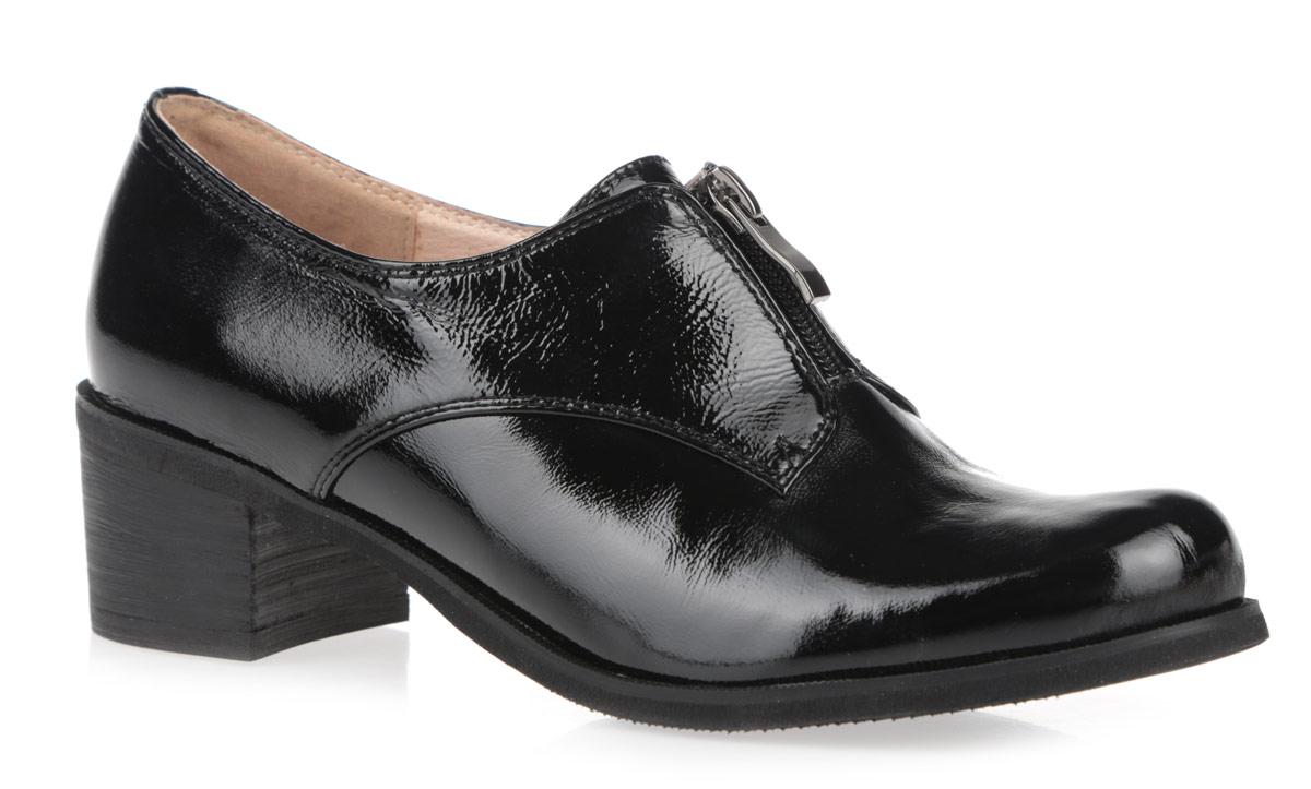 Туфли женские. 59801-0259801-02Женские туфли на каблуке от Provocante прекрасно подчеркнут ваш стиль. Верх модели выполнен из лакированной кожи. Подкладка и стелька из натуральной кожи гарантируют комфорт и удобство при ходьбе. Верхняя часть изделия дополнена застежкой-молнией, которая надежно зафиксирует обувь на ноге. Высокий широкий каблук устойчив. Подошва с рифленым протектором обеспечивает идеальное сцепление с любой поверхностью. Изысканные туфли добавят шика в модный образ и подчеркнут ваш безупречный вкус.