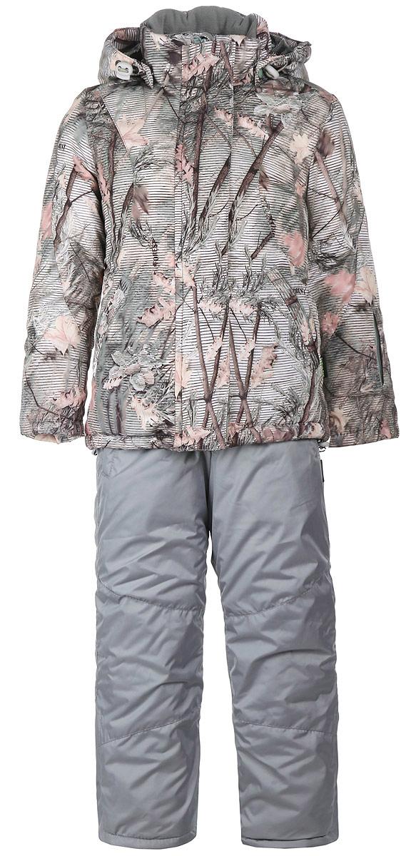 Комплект для девочки: куртка, брюки. СнегурочкаСнегурочкаЗимний облегченный комплект для девочки DetCam Снегурочка, состоящий из куртки и брюк, предназначен для активного отдыха и подвижных игр. Комплект изготовлен из водонепроницаемой и ветрозащитной ткани - 100% полиэстера. Cosmo-Heat - технология уникальной терморегуляции возвращает собственное тепло тела, отражая его с помощью серебристого точечного покрытия. Cosmo-Wind - фактурная ткань плотного плетения, состоящая на 100% из синтетических волокон, препятствует проникновению холодного воздуха и позволяет коже дышать. Утеплитель куртки - шелтер 300 г/м2. Утеплитель брюк - шелтер 150 г/м2. Водонепроницаемость - 2000 мм. Куртка с капюшоном и воротником-стойкой застегивается на пластиковую застежку-молнию и дополнительно имеет защиту подбородка и внешнюю ветрозащитную планку на липучках. Капюшон пристегивается с помощью застежки-молнии и кнопок, и по краю присборен на скрытую эластичную резинку со стопперами. Спереди предусмотрены два прорезных кармана на застежках-молниях. Левый...