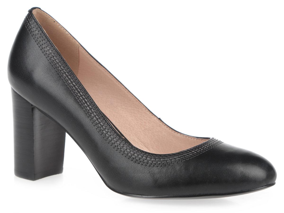 Туфли женские. 50022-0050022-00Женские туфли на каблуке от Provocante прекрасно подчеркнут ваш стиль. Верх модели и внутренняя часть выполнены из натуральной кожи. Стелька из натуральной кожи гарантирует комфорт и удобство при ходьбе. Высокий каблук устойчив. Верхняя часть изделия декорирована прострочкой. Изысканные туфли добавят шика в модный образ и подчеркнут ваш безупречный вкус.