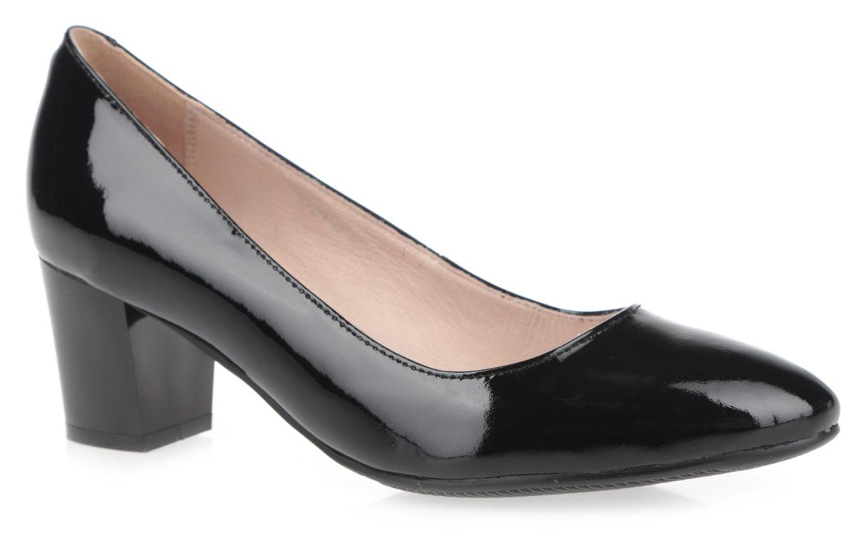 Туфли женские. 57100-0257100-02Женские туфли на каблуке от Provocante прекрасно подчеркнут ваш стиль. Верх модели выполнен из лакированной кожи. Подкладка и стелька из натуральной кожи гарантируют комфорт и удобство при ходьбе. Высокий каблук устойчив. Подошва с рифленым протектором обеспечивает идеальное сцепление с любой поверхностью. Изысканные туфли добавят шика в модный образ и подчеркнут ваш безупречный вкус.