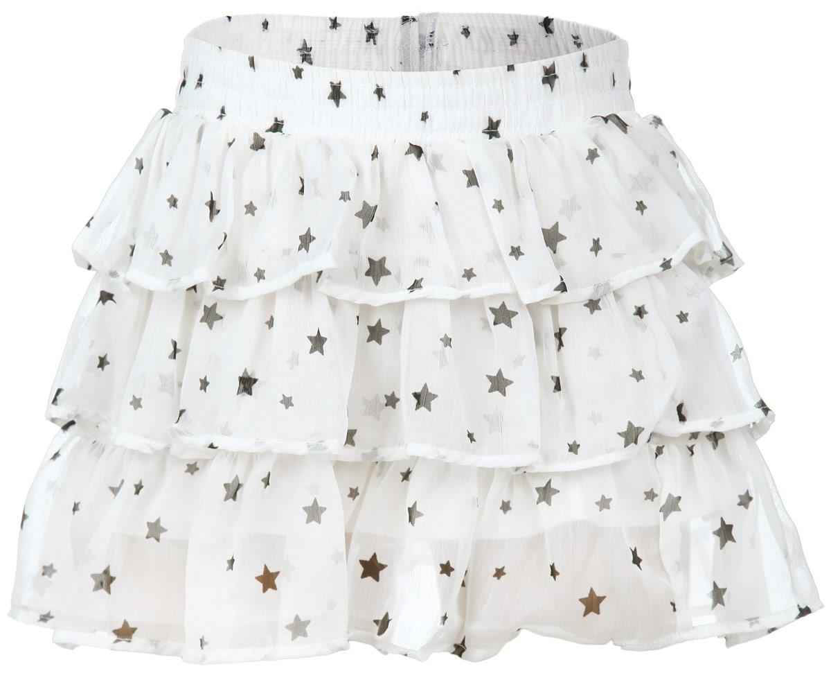 Юбка для девочки. SK-518/040-6162SK-518/040-6162Эффектная юбка для девочки Sela идеально подойдет вашей моднице. Изготовленная из полиэстера с подкладкой из эластичного хлопка, она мягкая и приятная на ощупь, не сковывает движения и позволяет коже дышать, не раздражает нежную кожу ребенка, обеспечивая наибольший комфорт. Юбка на талии имеет широкую эластичную резинку, не сдавливающую животик ребенка. Модель дополнена тройной оборкой из мягкой микросетки, что придает изделию пышность. Прекрасный дизайн сделает эту юбочку модным и стильным предметом детского гардероба. В ней ваша маленькая леди всегда будет в центре внимания.