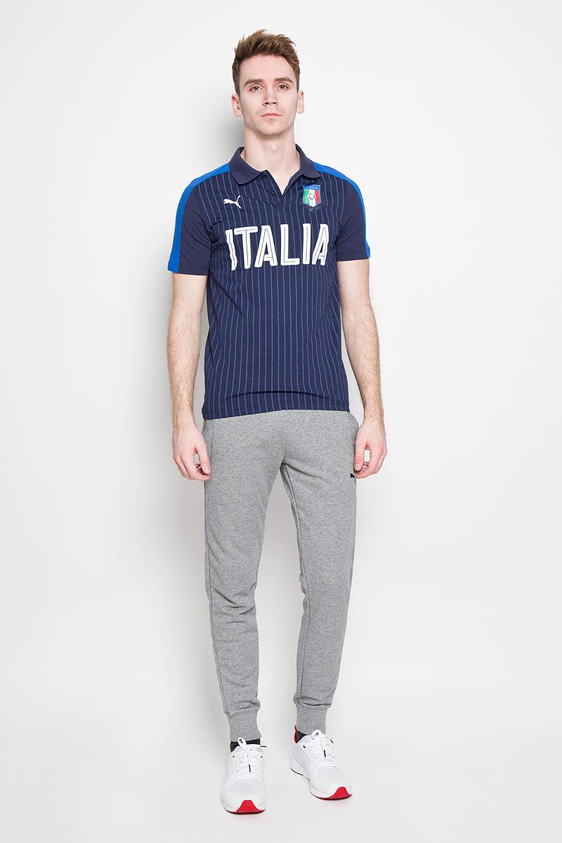 Поло749104011Стильная мужская футболка-поло Puma FIGC Italia Fanwear , изготовленная из высококачественного натурального хлопка, обладает высокой теплопроводностью, воздухопроницаемостью и гигроскопичностью, позволяет коже дышать. Модель с короткими рукавами и отложным воротником - идеальный вариант для создания оригинального современного образа. Сверху футболка-поло застегивается на 2 пуговицы. Футболка-поло оформлена крупной надписью Italia и логотипом FIGC. Такая модель подарит вам комфорт в течение всего дня и послужит замечательным дополнением к вашему гардеробу.