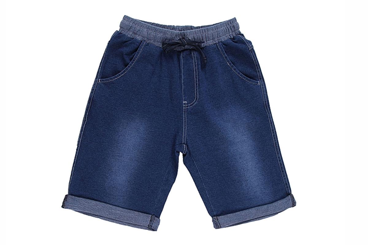 Бриджи для мальчика. 196734196734Стильные джинсовые бриджи для мальчика Luminoso прекрасно подойдут вашему ребенку и станут отличным дополнением к летнему гардеробу. Изготовленные из эластичного хлопка, они мягкие и приятные на ощупь, не сковывают движения и позволяют коже дышать. Бриджи на талии дополнены широкой трикотажной резинкой, регулируемой скрытым шнурком. Имеется имитация ширинки. Спереди расположены два втачных кармана, а сзади - один накладной карман. Низ штанин дополнен декоративными отворотами. Изделие оформлено легким эффектом потертости. В таких бриджах ваш ребенок будет чувствовать себя комфортно, уютно и всегда будет в центре внимания!