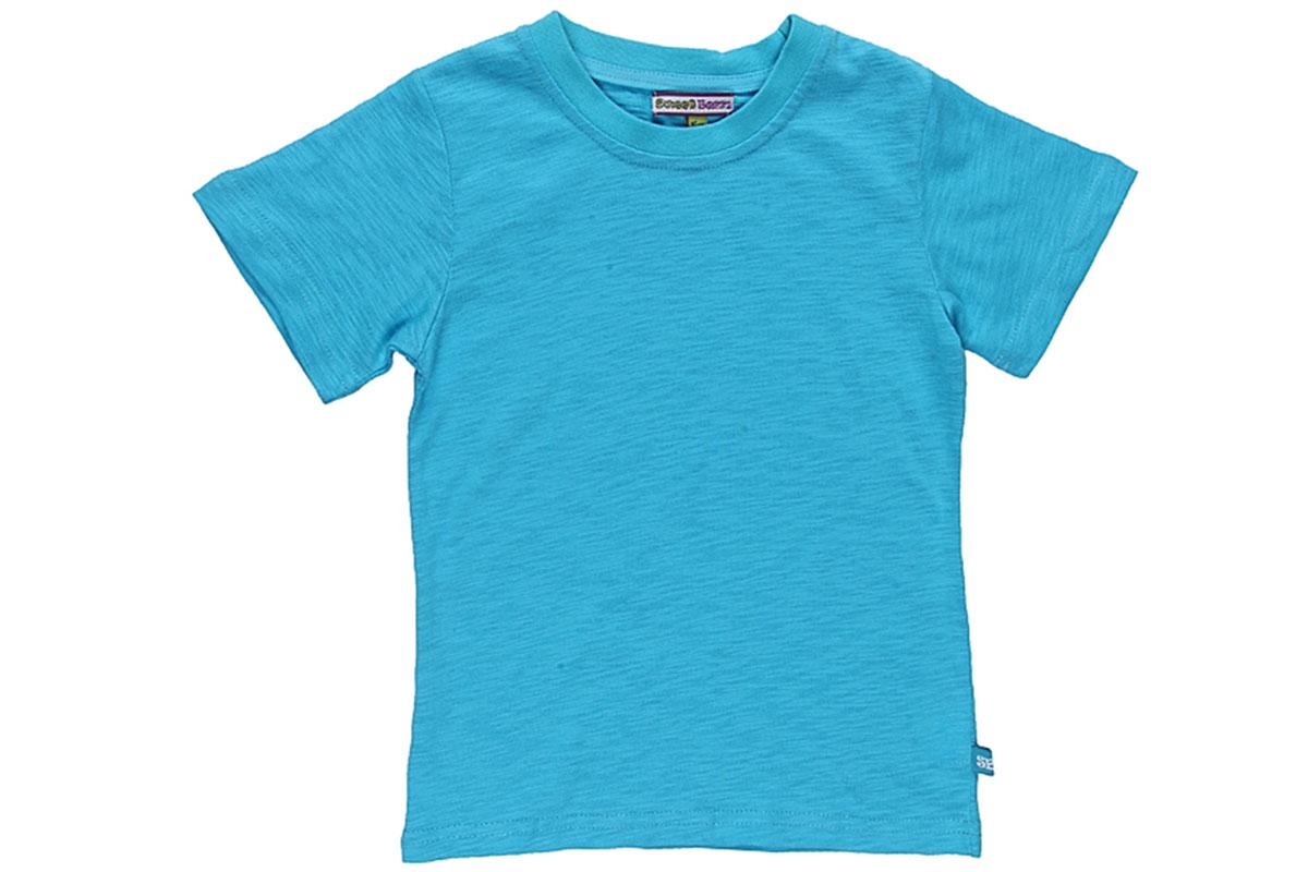 Футболка для мальчика. 196623196623Яркая футболка для мальчика Sweet Berry, выполненная из эластичного хлопка, станет отличным дополнением к детскому гардеробу. Изделие очень мягкое и приятное на ощупь, не сковывает движения и позволяет коже дышать, обеспечивая наибольший комфорт. Однотонная футболка с короткими рукавами имеет круглый вырез горловины, дополненный мягкой трикотажной резинкой. Отличное качество и расцветка принесут удовольствие от покупки и подарят отличное настроение обладателю такой футболки!