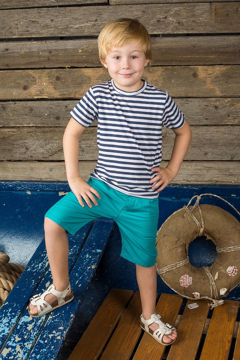 Футболка196394Стильная футболка для мальчика Sweet Berry, выполненная из эластичного хлопка, идеально подойдет вашему маленькому мужчине. Изделие необычайно мягкое и приятное на ощупь, не сковывает движения, хорошо пропускает воздух. Футболка с короткими рукавами имеет круглый вырез горловины. Модель оформлена принтом в полоску. Такая футболка станет отличным дополнением к детскому гардеробу, в ней ребенку будет уютно и комфортно.