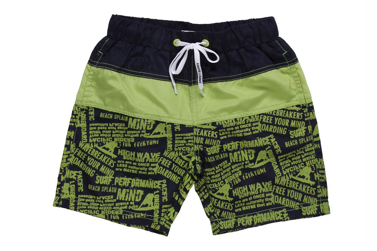 Шорты для мальчика. 196354196354Стильные плавательные шорты для мальчика Sweet Berry прекрасно подойдут вашему ребенку и станут отличным дополнением к летнему гардеробу. Изготовленные из быстросохнущего материала, они мягкие и приятные на ощупь, не сковывают движения и позволяют коже дышать. Шорты на поясе имеют широкую эластичную резинку, регулируемую контрастным шнурком. Внутри сетчатые трусики. Спереди шорты дополнены двумя втачными карманами. Модель оформлена оригинальными принтовыми надписями. В таких шортах ваш ребенок будет чувствовать себя комфортно, уютно и всегда будет в центре внимания!