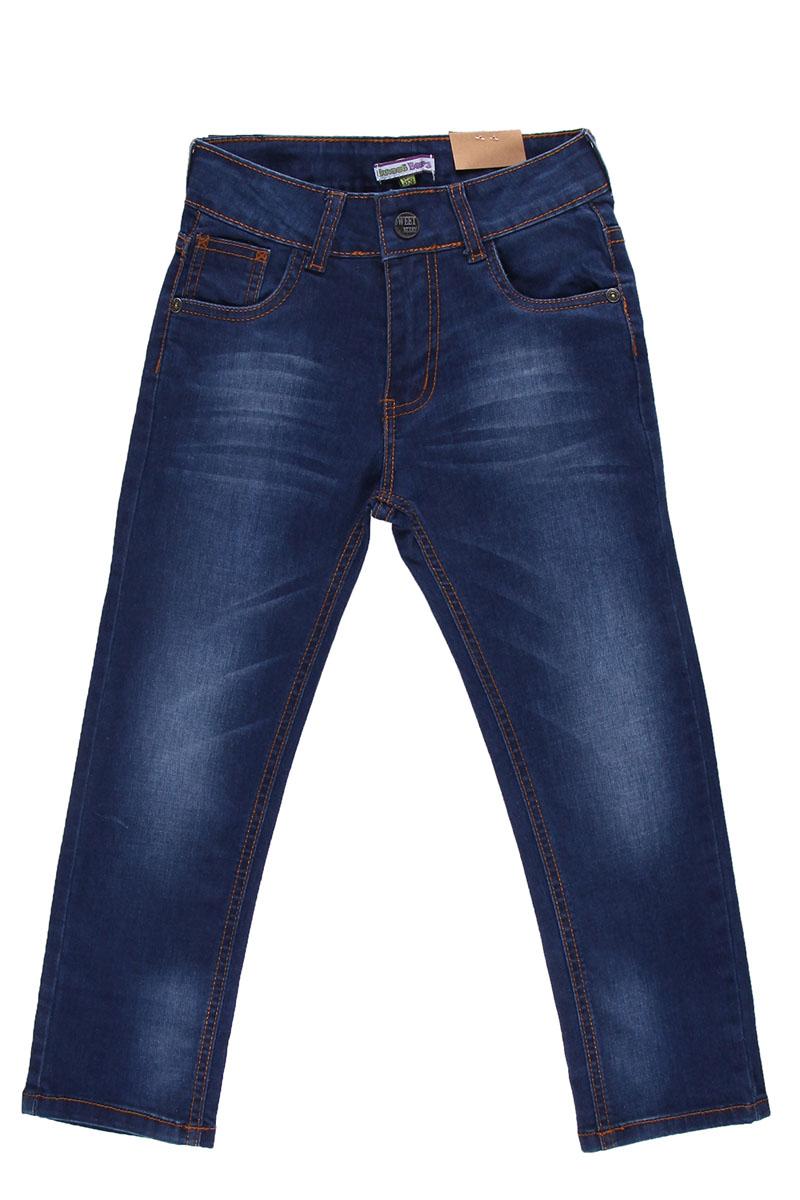 Джинсы для мальчика. 196324196324Удобные джинсы для мальчика Sweet Berry идеально подойдут вашему маленькому моднику. Изготовленные из эластичного хлопка, они мягкие и приятные на ощупь, не сковывают движения, сохраняют тепло и позволяют коже дышать, обеспечивая наибольший комфорт. Джинсы застегиваются на крючок в поясе, также имеются шлевки для ремня и ширинка на застежке-молнии. Объем пояса регулируется при помощи эластичной резинки с пуговицей изнутри. Джинсы имеют классический пятикарманный крой: спереди модель дополнена двумя втачными карманами и одним маленьким накладным кармашком, а сзади - двумя накладными карманами. Модель оформлена контрастной декоративной отстрочкой на карманах сзади и модными потертостями. Практичные и стильные джинсы идеально подойдут вашему малышу, а модная расцветка и высококачественный материал позволят ему комфортно чувствовать себя в течение дня!