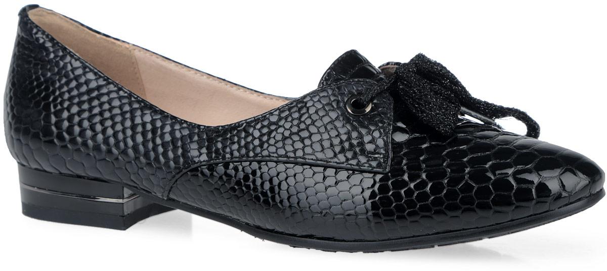 Туфли женские. 50001-0250001-02Элегантные женские туфли от Provocante прекрасно подчеркнут ваш стиль. Верх модели выполнен из натуральной лакированной кожи с тиснением под рептилию. Подкладка и стелька из натуральной кожи гарантируют комфорт и удобство при ходьбе. Мыс туфель оформлен шнуровкой. Широкий каблук, дополненный металлической вставкой, устойчив. Подошва с рифленым протектором обеспечивает идеальное сцепление с любой поверхностью. Изысканные туфли добавят шика в модный образ и подчеркнут ваш безупречный вкус.