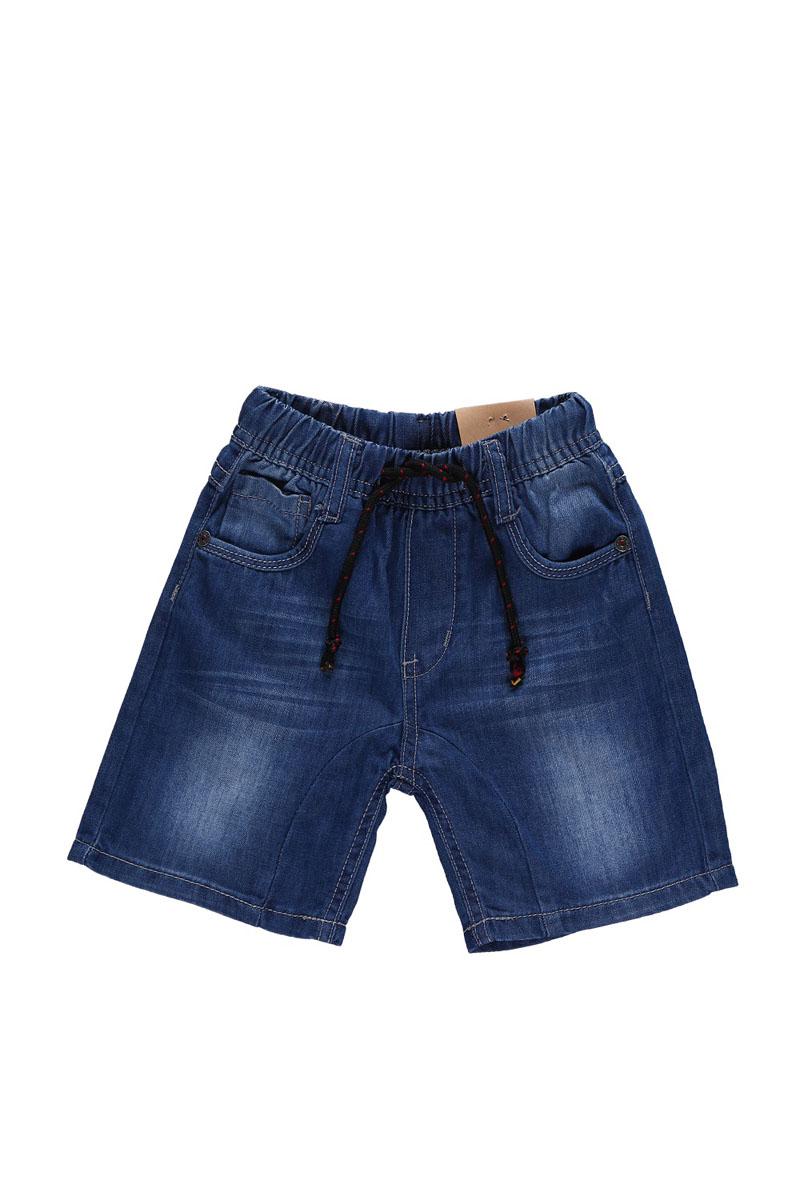 Шорты для мальчика. 196111196111Джинсовые шорты для мальчика Sweet Berry Baby идеально подойдут маленькому моднику и станут отличным дополнением к детскому гардеробу. Шорты выполнены из натурального хлопка, не сковывают движения и позволяют коже дышать, обеспечивая наибольший комфорт. Шорты на широкой эластичной резинке с регулировкой шнурком по поясу. Спереди расположены два втачных кармана и один накладной кармашек, сзади - два накладных кармана. Оформлено изделие контрастной отстрочкой. В таких стильных шортах ваш маленький мужчина будет чувствовать себя комфортно и всегда будет в центре внимания!