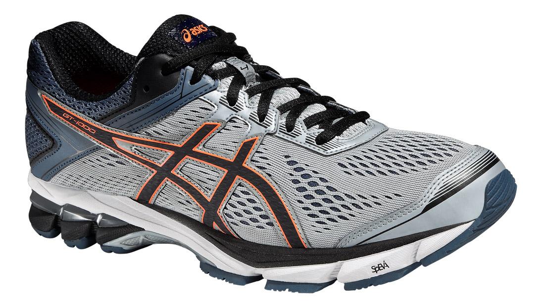 Кроссовки для бега мужские GT-1000 4. T5A2N-9690T5A2N-9690Мужские кроссовки Asics GT-1000 4, предназначенные для тренировочного бега, это продолжение серии GT - 1000, которая очень популярна среди всех бегунов. Модель выполнена из комбинации сетчатого текстиля и искусственных материалов, создающими выдающуюся форму верха с превосходной вентиляцией и поддержкой для максимальной естественности движений во время пробежки, а также комфорта в течение всего дня. Подъем оформлен классической шнуровкой, которая надежно фиксирует обувь на ноге и регулирует объем. Стелька, которая идеально подстраивается под анатомические контуры стопы, изготовлена из ЭВА материала с верхним покрытием из текстиля. Подкладка из текстиля обеспечит уют. Язычок и задник дополнены символикой бренда. Вставка в промежуточной подошве из термостойкого геля на силиконовой основе значительно уменьшает нагрузку на пятку, колени и позвоночник спортсмена, снижая возможность получения травмы. Средняя подошва оснащена системой DuoMax - двойной плотности для...