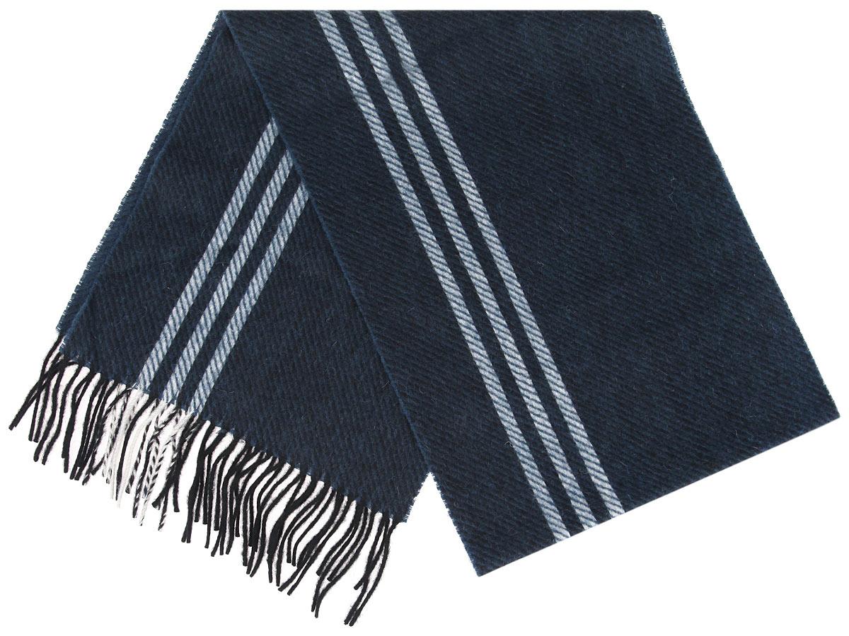 Шарф30-41 М1Элегантный мужской шарф Flioraj согреет вас в холодное время года, а также станет изысканным аксессуаром, который призван подчеркнуть ваш стиль и индивидуальность. Теплый, мягкий, приятный на ощупь шарф не продувается и великолепно сохраняет тепло. Оригинальный и стильный шарф выполнен из высококачественной 100% мериносовой шерсти, оформлен узкими контрастными полосками и украшен бахромой в виде жгутиков по краям. Такой шарф станет превосходным дополнением к любому наряду, защитит вас от ветра и холода и позволит вам создать свой неповторимый стиль