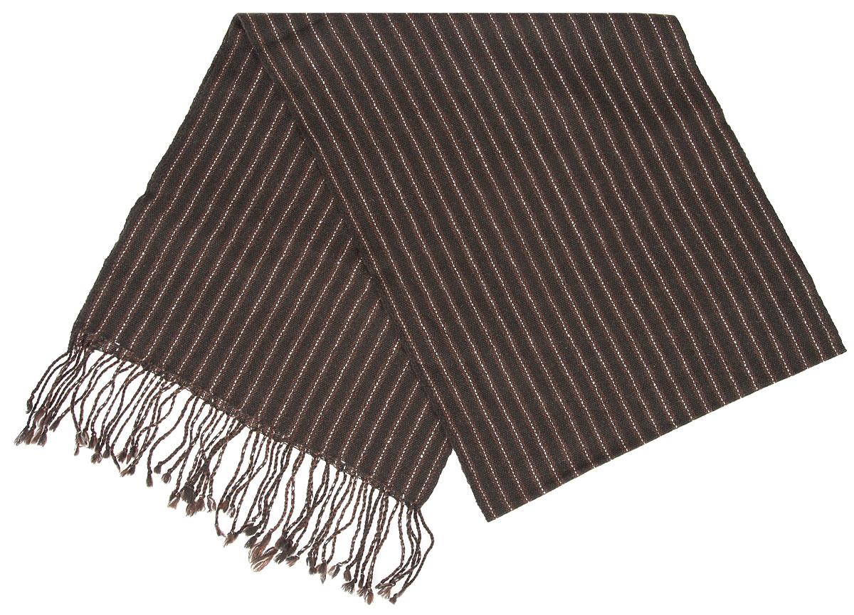 Шарф00050541Элегантный мужской шарф Flioraj согреет вас в холодное время года, а также станет изысканным аксессуаром, который призван подчеркнуть ваш стиль и индивидуальность. Оригинальный и стильный шарф выполнен из высококачественной 100% мериносовой шерсти, оформлен узкими контрастными полосками и украшен жгутиками бахромой по краям. Такой шарф станет превосходным дополнением к любому наряду, защитит вас от ветра и холода и позволит вам создать свой неповторимый стиль