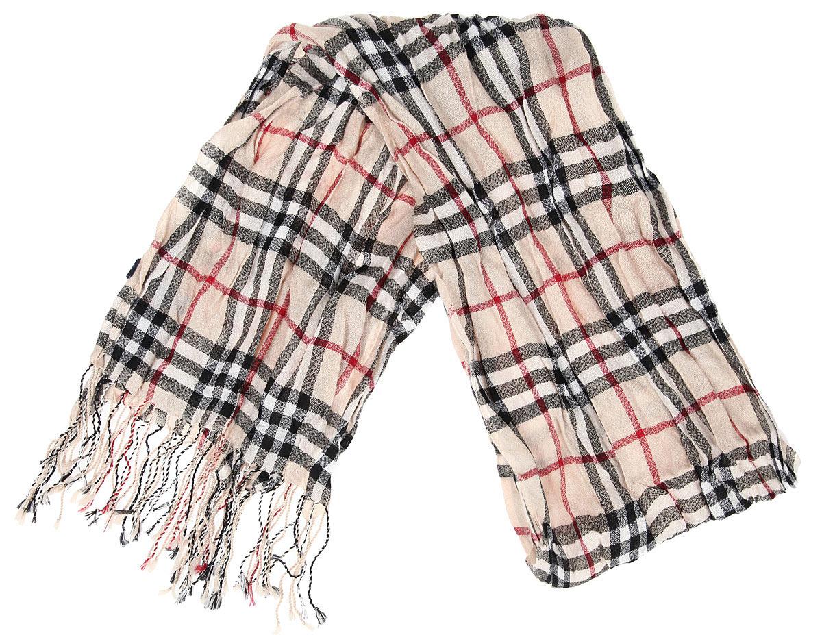Шарф40-16 РSЭлегантный легкий мужской шарф Flioraj согреет вас в холодное время года, а также станет изысканным аксессуаром, который призван подчеркнуть ваш стиль и индивидуальность. Оригинальный тонкий шарф выполнен из высококачественной 100% мерсеризованной мериносовой шерсти, оформлен принтом в крупную клетку и украшен бахромой в виде жгутиков по краям. Такой шарф станет превосходным дополнением к любому наряду, защитит вас от ветра и холода и позволит вам создать свой неповторимый стиль