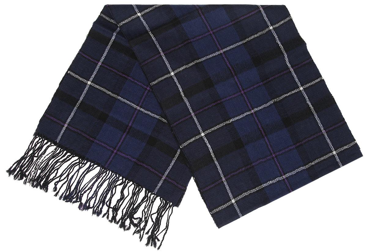 Шарф30-3 РSЭлегантный мужской шарф Flioraj согреет вас в холодное время года, а также станет изысканным аксессуаром, который призван подчеркнуть ваш стиль и индивидуальность. Теплый, мягкий, приятный на ощупь шарф не продувается и великолепно сохраняет тепло. Оригинальный и стильный шарф выполнен из высококачественной 100% мериносовой шерсти, оформлен принтом в крупную клетку и украшен бахромой в виде жгутиков по краям. Такой шарф станет превосходным дополнением к любому наряду, защитит вас от ветра и холода и позволит вам создать свой неповторимый стиль