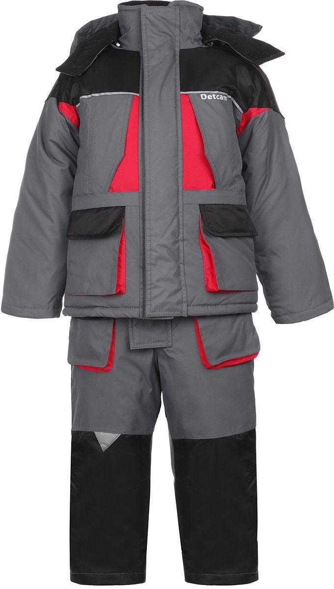 Комплект для мальчика: куртка, полукомбинезон. Дискавери кидсДискавери кидсЗимний комплект для мальчика DetCam Дискавери кидс, состоящий из куртки и полукомбинезона, предназначен для активного отдыха и подвижных игр. Комплект изготовлен из водонепроницаемой и ветрозащитной ткани - 100% полиэстера (рояла). Утеплитель куртки - синтепон 400 г/м2. Утеплитель полукомбинезона - 200 г/м2. Подкладка выполнена из таффеты (100% полиэстера). Водонепроницаемость - 8000 мм. Паропроницаемость - 5000 г/м2/24 часа. Cosmo-Tech - технология, заключающаяся в микропоровой мембране, которая не позволяет проникать влаге внутрь изделия. Мембрана Cosmo-Tech на 100% паропроницаема, испарения от кожи отводятся через поры мембраны. Cosmo-Soft - нетканая ворсовая ткань из тончайших полиэстеровых волокон. Cosmo-Soft прекрасно обеспечивает необходимую вентиляцию при перегреве и вывод конденсата наружу. Благодаря специальным технологиям плетения волокон и создания ворса, материал обладает высокой прочность, почти не впитывает влагу и быстро сохнет. Cosmo-Wind - фактурная ткань...