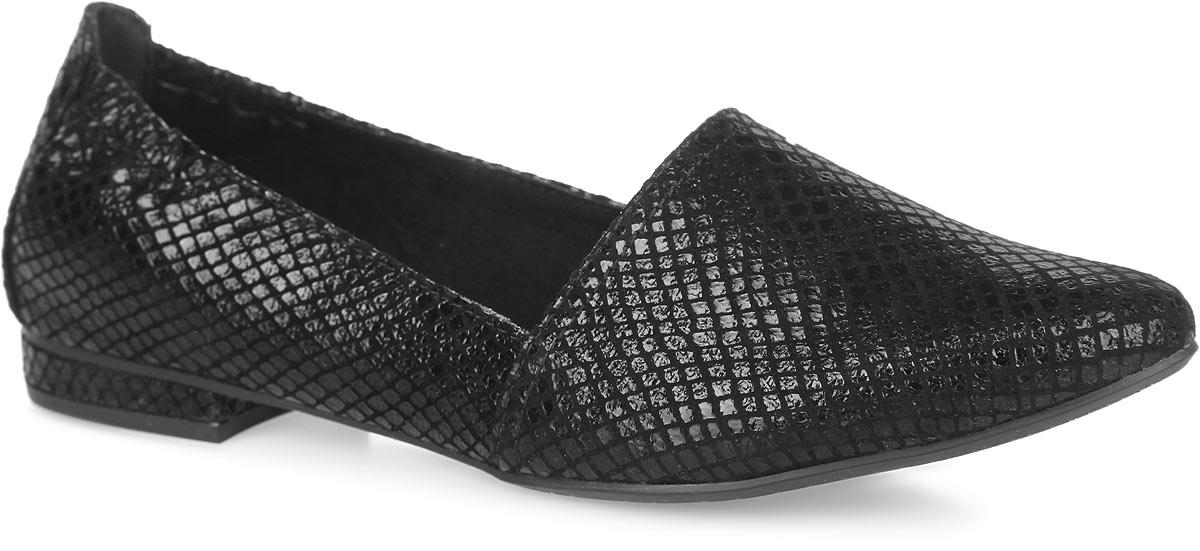 Туфли женские. 1-1-24202-26-0061-1-24202-26-006Стильные туфли от Tamaris - основа гардероба каждой женщины! Модель изготовлена из текстиля с покрытием. Боковая сторона у мыса и пяточная часть модели дополнены резинками, которые обеспечивают оптимальную посадку модели на ноге. Стелька из искусственной кожи, оформленная логотипом бренда, комфортна при движении. Умеренной высоты каблук устойчив. Подошва с рифлением гарантирует отличное сцепление с любыми поверхностями. В таких туфлях вашим ногам будет комфортно и уютно. Они подчеркнут ваш стиль и индивидуальность.